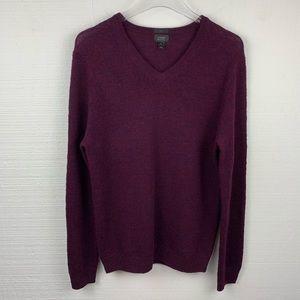J. Crew Sweater M Mens Burgundy Patch Long Sleeve